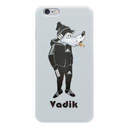 """Чехол для iPhone 6 """"Ну, погоди!"""" - приколы, adidas, адидас, волк, вадик"""