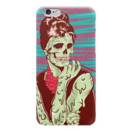 "Чехол для iPhone 6 ""Одри Хепберн (зомби)"" - skull, череп, зомби, одри хепберн, икона стиля"