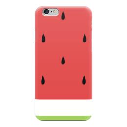 """Чехол для iPhone 6 """"Сочный Арбуз"""" - ягода, арбуз"""