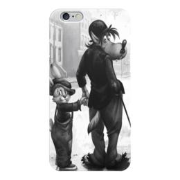 """Чехол для iPhone 6 глянцевый """"Ну Погади"""" - арт, заяц, волк, чарли чаплин, ну погади"""