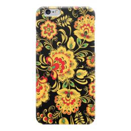 "Чехол для iPhone 6 ""Хохлома"" - цветы, классика, хохлома, роспись, khokhloma"