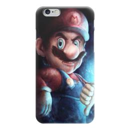 """Чехол для iPhone 6 """"Супер Марио"""" - арт, рисунок, putin, супер марио"""