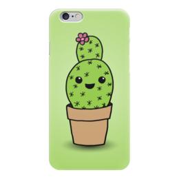 "Чехол для iPhone 6 ""Милый кактус"" - арт, цветок, кактус"