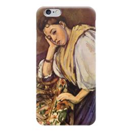 """Чехол для iPhone 6 """"Молодая итальянка"""" - картина, сезанн"""