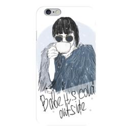 """Чехол для iPhone 6 """"Babe it's cold outside"""" - зима, мода, люди, кофе, холод"""
