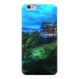 """Чехол для iPhone 6 """"Вечер в Киото"""" - дом, деревья, облака, japan, kyoto"""