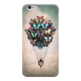 "Чехол для iPhone 6 глянцевый ""Воздушный шар/Бабочки"" - арт, бабочки, рисунок, воздушный шар, арт дизайн"