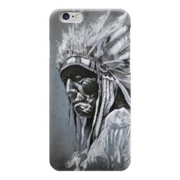 "Чехол для iPhone 6 ""Мудрый Индеец"" - америка, мудрость, индеец, дух, дикий мустанг"