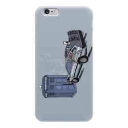 "Чехол для iPhone 6 ""Tardis x DeLorian"" - назад в будущее, доктор кто, тардис, машина времени, time machine"