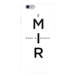 """Чехол для iPhone 6 глянцевый """"МИР. Made In Russia"""" - russia, мир, россия"""