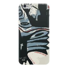 """Чехол для iPhone 6 глянцевый """"Modern Red Blue & Black"""" - арт, абстракция, abstract, dark"""