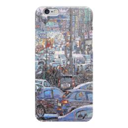 """Чехол для iPhone 6 """"Охотный ряд"""" - арт, москва, город, пейзаж, живопись"""