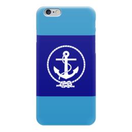 """Чехол для iPhone 6 """"Морской разведчик"""" - море, якорь, канат"""