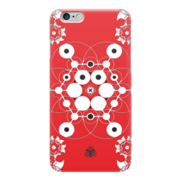 """Чехол для iPhone 6 """"Молекула Духа """" - красный, фрактал, ethica, marinanaber"""
