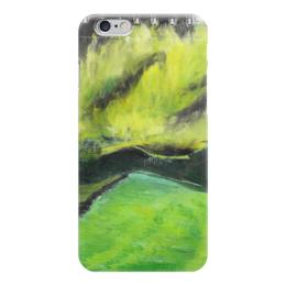 """Чехол для iPhone 6 """"Северное сияние"""" - арт, зеленый, пейзаж, сияние"""