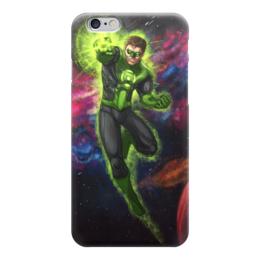 """Чехол для iPhone 6 глянцевый """"Зеленый фонарь (Green Lantern)"""" - зеленый фонарь, комиксы, dc, dc comics, green lantern"""