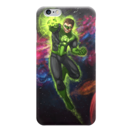 "Чехол для iPhone 6 ""Зеленый фонарь (Green Lantern)"" - комиксы, dc, зеленый фонарь, green lantern, dc comics"