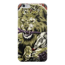 "Чехол для iPhone 6 ""Lion with skull"" - skull, череп, корона, лев, lion"