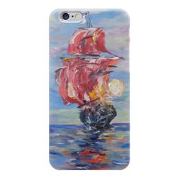 """Чехол для iPhone 6 """"Мечты"""" - романтика, море, сказка, корабль, алые паруса"""