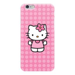 "Чехол для iPhone 6 глянцевый ""Kitty в горошек"" - мультик, hello kitty, мультфильм, для детей, привет китти"