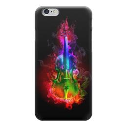 """Чехол для iPhone 6 """"Скрипка, яркий дизайн"""" - музыка, арт, огонь, скрипка, пламя"""