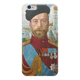 "Чехол для iPhone 6 """"Царь Николай II"""" - картина, кустодиев"