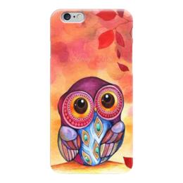 "Чехол для iPhone 6 ""Совушка"" - осень, сова, совушка, owl"