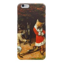 """Чехол для iPhone 6 """"His Majesty Receives"""" - заяц, картина, лиса, кролик, берд"""