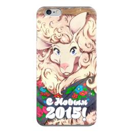 "Чехол для iPhone 6 глянцевый ""овечка 2015"" - happy new year, новый год, барашек, баран, подарки, рождество, new year, дед мороз, санта, овца"