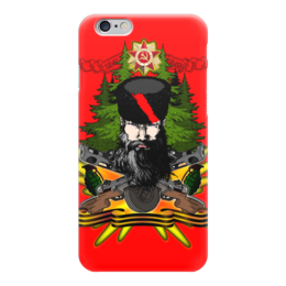 "Чехол для iPhone 6 ""ПАРТИЗАН!!!"" - война, лес, орден, партизан, папаха"