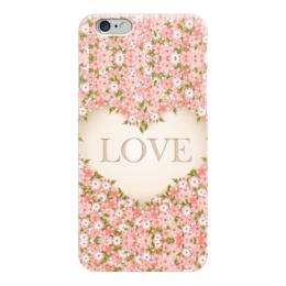 "Чехол для iPhone 6 ""Love "" - любовь, цветочки"