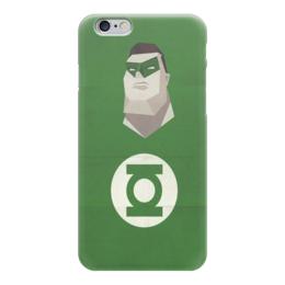 """Чехол для iPhone 6 """"Зелёный фонарь"""" - dc, зеленый фонарь"""