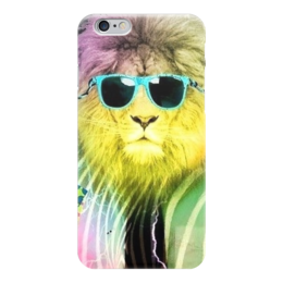 "Чехол для iPhone 6 ""Царь зверей"" - царь, модно, лев, очки, lion"
