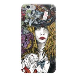 """Чехол для iPhone 6 """"Алиса в стране чудес"""" - девушка, иллюстрация, алиса в стране чудес, чеширский кот"""