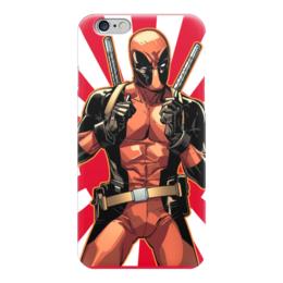 """Чехол для iPhone 6 глянцевый """"Deadpool"""" - комиксы, арт, deadpool, дедпул, дэдпул"""