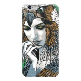 """Чехол для iPhone 6 глянцевый """"Волшебница"""" - девушка, сова, owl, иллюстрация"""