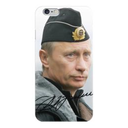 "Чехол для iPhone 6 глянцевый ""путин"" - стиль, путин, подпись"