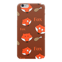 "Чехол для iPhone 6 глянцевый ""Лисички"" - арт, лиса, fox, лис"
