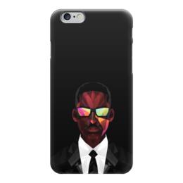 """Чехол для iPhone 6 глянцевый """"Уилл Смит (Will Smith)"""" - уилл смит, я-легенда, фокус, люди в черном"""