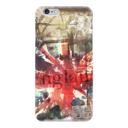 "Чехол для iPhone 6 ""Английский флаг"" - англия, uk, union jack, флаг великобритании"