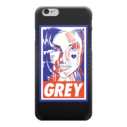 "Чехол для iPhone 6 ""Саша Грей (Grey)"" - obey, grey, саша грей, sasha grey"