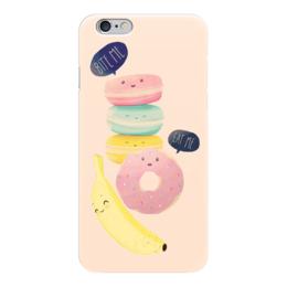 """Чехол для iPhone 6 """"Съешь меня"""" - юмор, еда, фрукты, пончики, donuts"""