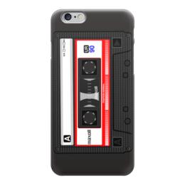 "Чехол для iPhone 6 глянцевый ""кассета"" - ретро, кассета"