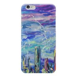 """Чехол для iPhone 6 """"Молния"""" - позитив, гроза, ярко, небо, молния"""