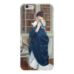 """Чехол для iPhone 6 """"Молодая девушка за чтением"""" - картина, тульмуш"""