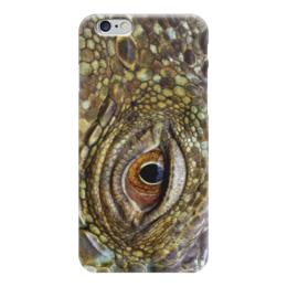 """Чехол для iPhone 6 """"крокодиловая кожа с секретом"""" - змея, глаз, крокодил, кожа"""
