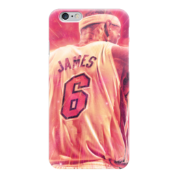 "Чехол для iPhone 6 глянцевый ""Леброн Джеймс (Кливленд Кавальерс)"" - леброн джеймс, lebron james, нба, nba"