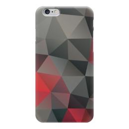 "Чехол для iPhone 6 ""Polygon Dark-red"" - polygon"