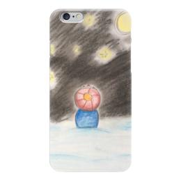 "Чехол для iPhone 6 ""Полярная ночь"" - праздник, зима, ночь, снег, звёзды"