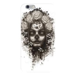 """Чехол для iPhone 6 """"Santa Muerte """" - череп, девушка, смерть, санта муерте"""